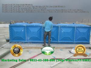 tangki panel, roof water tank, tangki air frp
